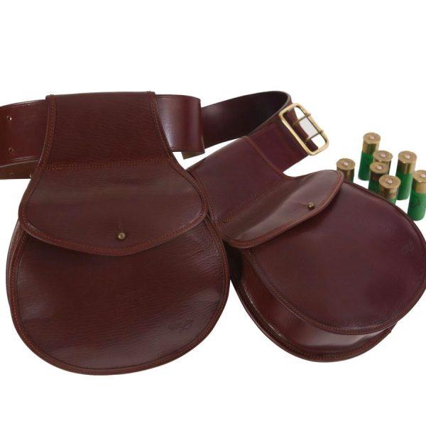 Bolsas de ojeo para cartuchos redonda fabricas en cuero curtido al vegetal
