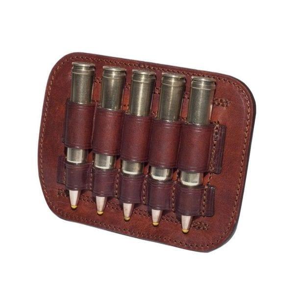 Canana de cuero para 5 balas