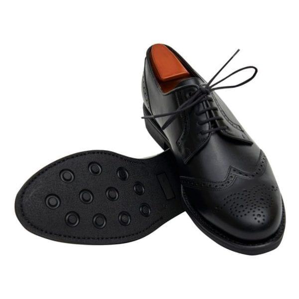 Blucher picado suela de goma color negro