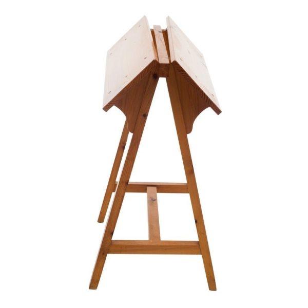 Borriquete o monturero de suelo de madera maciza