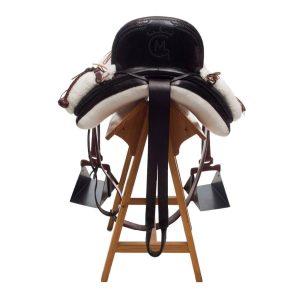 Silla vaquera moteada en piel y personalizada